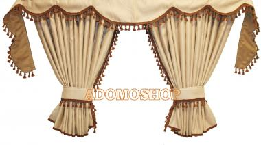 adomo lkw shop scania s ab 2017 gardinen beige braun. Black Bedroom Furniture Sets. Home Design Ideas
