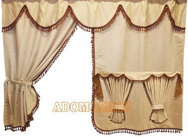 adomo lkw shop lkw gardinen f r daf xf106 xf105 beige. Black Bedroom Furniture Sets. Home Design Ideas