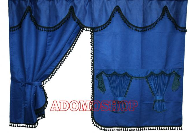 adomo lkw shop gardinen f r man tgx xxl tga xxl blau. Black Bedroom Furniture Sets. Home Design Ideas