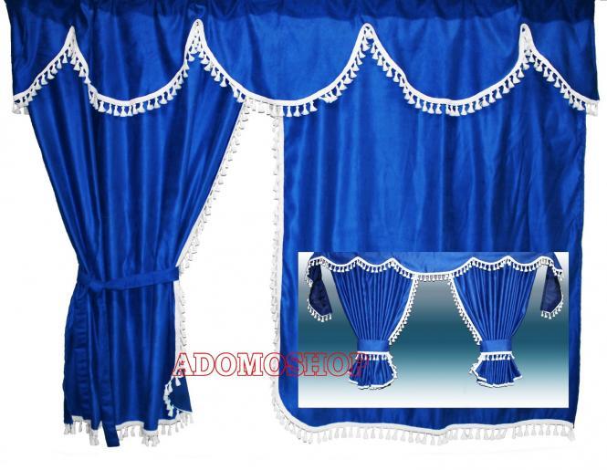 adomo lkw shop lkw gardinen f r scania r topline blau. Black Bedroom Furniture Sets. Home Design Ideas