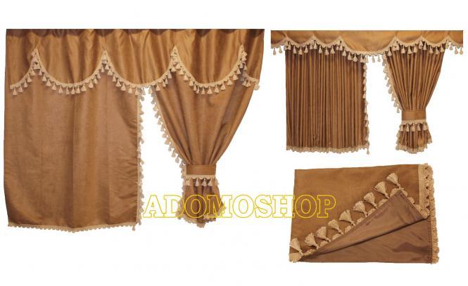 Adomo lkw shop gardinen f r actros mp4 braun beige unterst braun lkw zubeh r - Gardinen braun beige ...