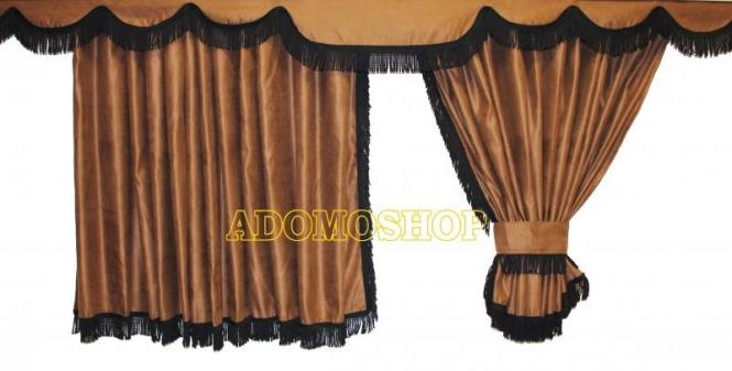 Adomo lkw shop scania r gardinen braun schwarze gerade - Schwarze gardinen ...