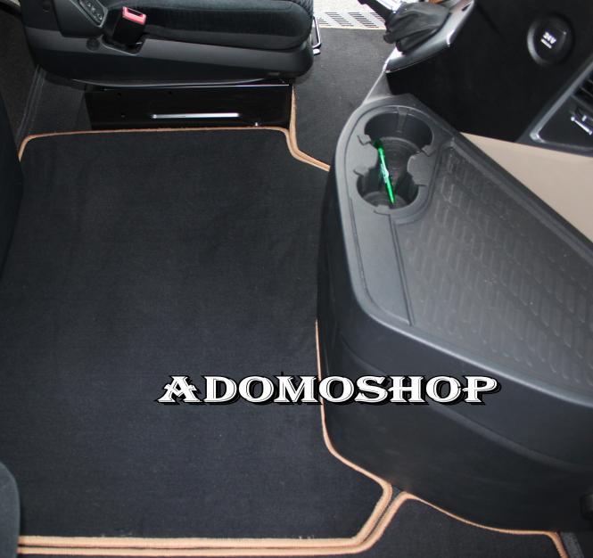 Adomo LKWShop  Lkw Fussmatten für Actros MP4, Velour