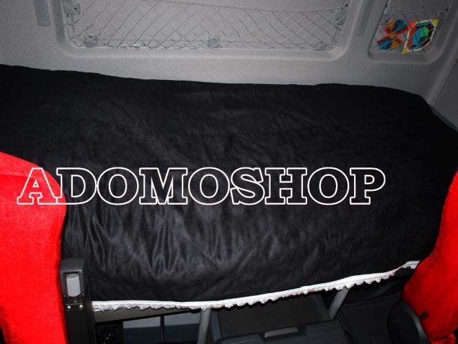 adomo lkw shop tagesdecke schwarz weiss f r actros man volvo daf iveco renault scania lkw. Black Bedroom Furniture Sets. Home Design Ideas