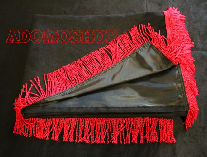 adomo lkw shop volvo gardinen schwarz rot lkw zubeh r. Black Bedroom Furniture Sets. Home Design Ideas