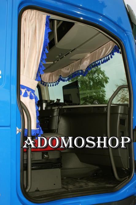 adomo lkw shop volvo lkw gardinen beige blau lkw zubeh r. Black Bedroom Furniture Sets. Home Design Ideas