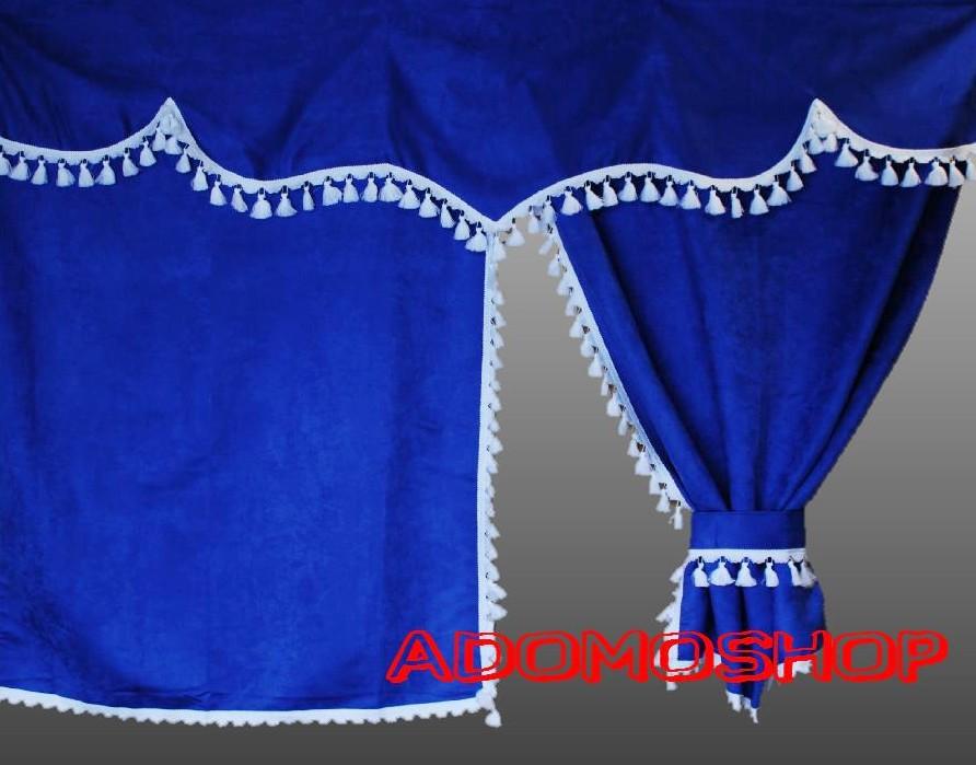 adomo lkw shop lkw gardinen f r volvo fh serie blau. Black Bedroom Furniture Sets. Home Design Ideas