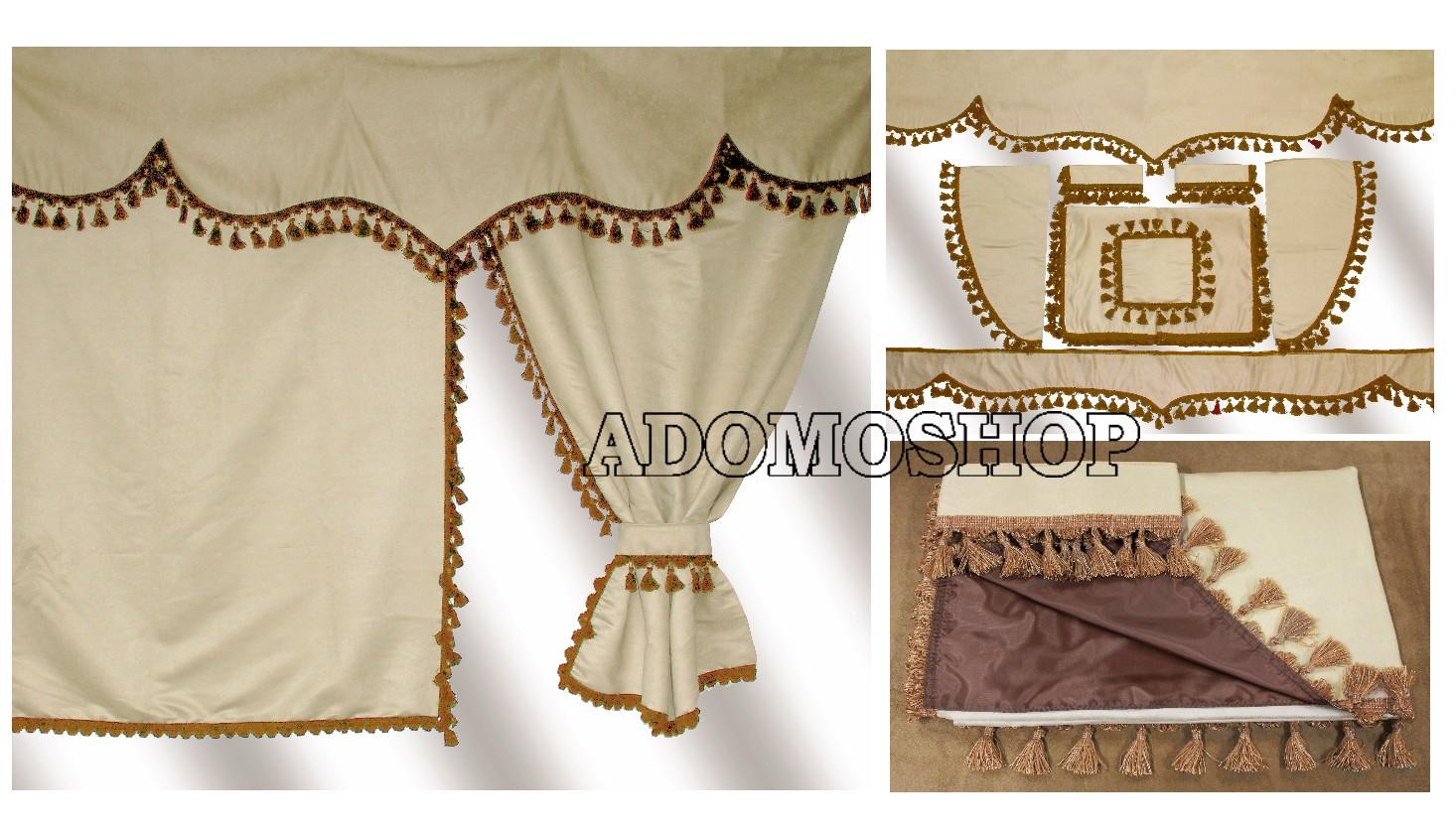 adomo lkw shop lkw gardinen f r volvo fh serie beige. Black Bedroom Furniture Sets. Home Design Ideas