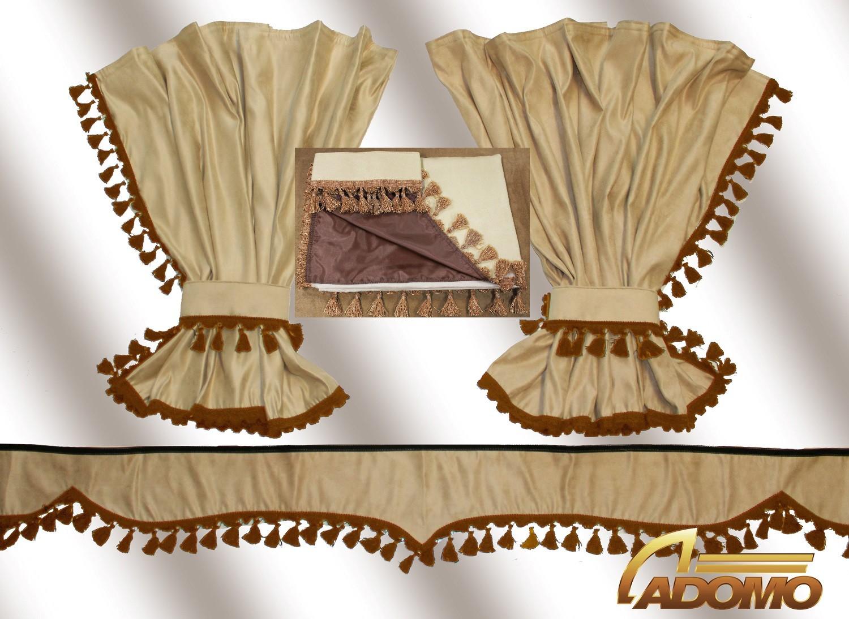 adomo lkw shop gardinen actros mp4 beige braun actros lkw zubeh r. Black Bedroom Furniture Sets. Home Design Ideas