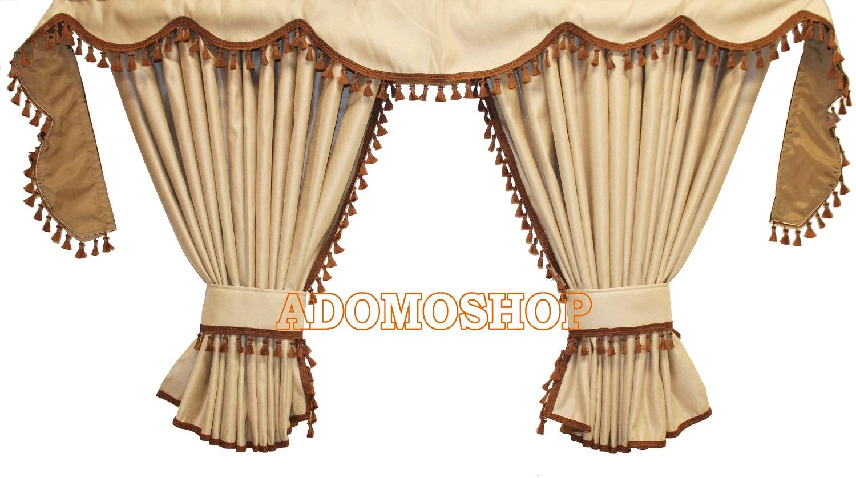 adomo lkw shop gardinen f r volvo fh4 beige braun. Black Bedroom Furniture Sets. Home Design Ideas