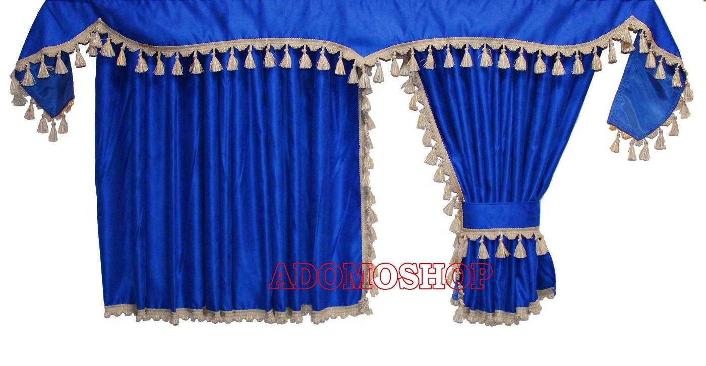adomo lkw shop lkw gardinen f r daf xf106 xf105 blau. Black Bedroom Furniture Sets. Home Design Ideas