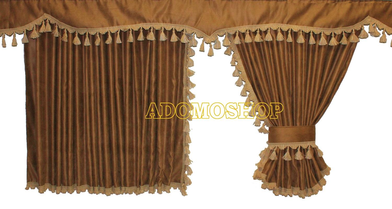 adomo lkw shop volvo gardinen braun beige lkw zubeh r. Black Bedroom Furniture Sets. Home Design Ideas