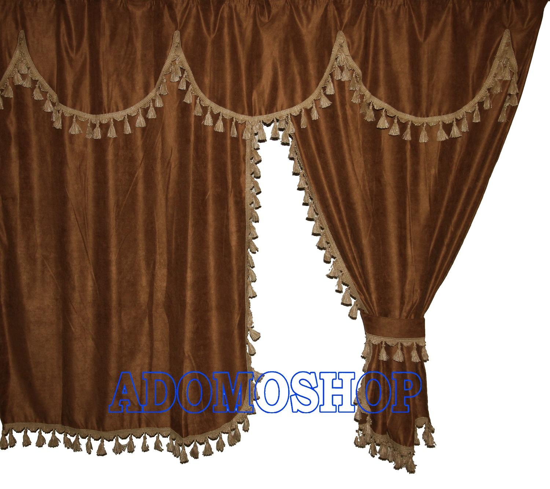 adomo lkw shop volvo lkw gardinen braun beige lkw. Black Bedroom Furniture Sets. Home Design Ideas