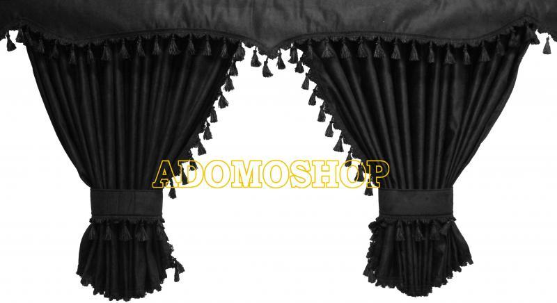 adomo lkw shop volvo gardinen schwarz schwarz lkw zubeh r. Black Bedroom Furniture Sets. Home Design Ideas