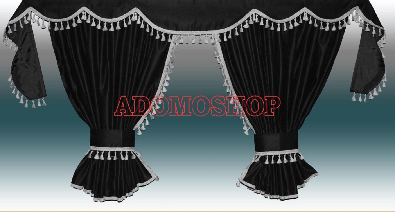 adomo lkw shop lkw gardinen f r daf xf106 xf105 schwarz. Black Bedroom Furniture Sets. Home Design Ideas