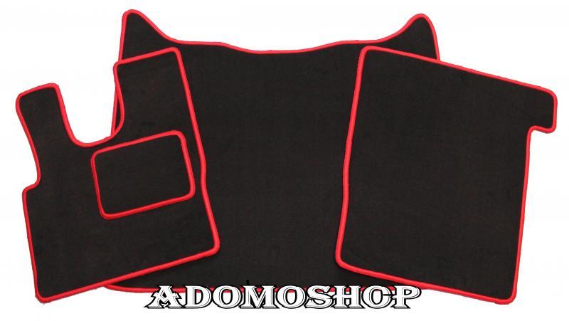 Teppich schwarz rot  Adomo LKW-Shop | Fußmatten für DAF XF 106 Teppich Schwarz-Rot ...