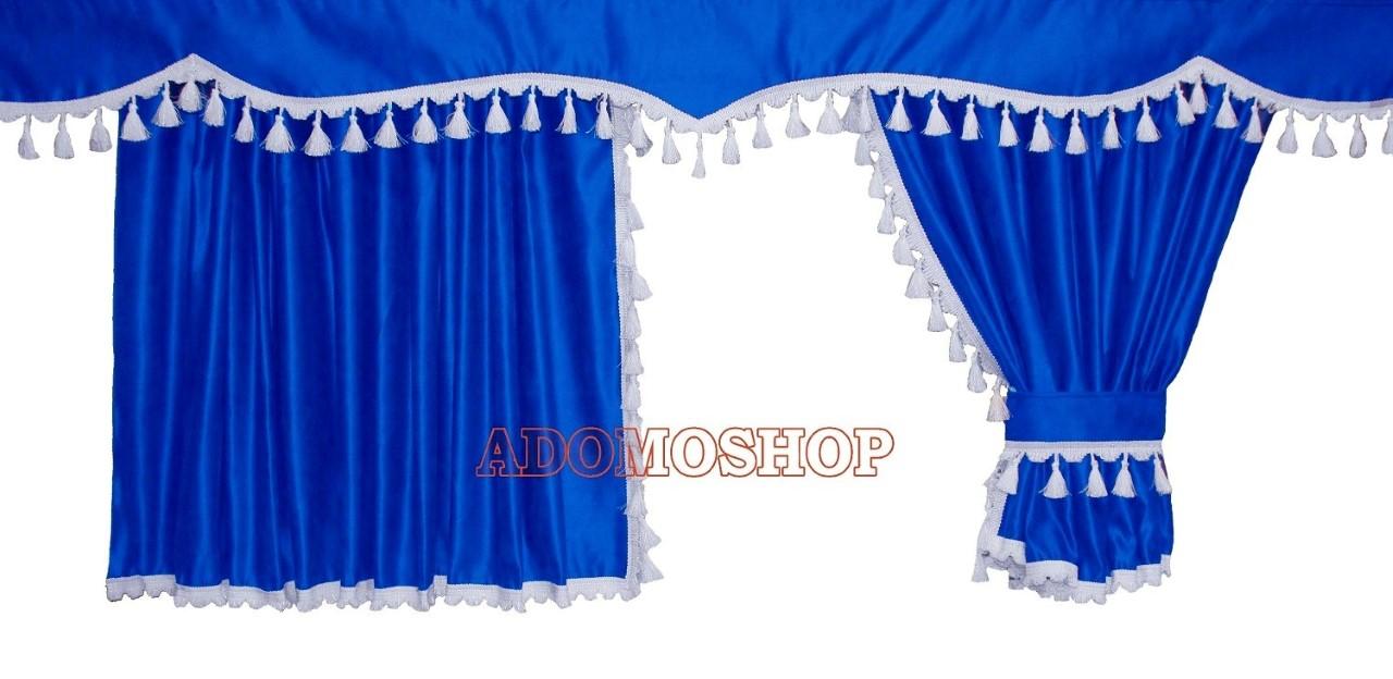 Adomo Lkw Shop Volvo Gardinen Blau Weiss Lkw Zubehör