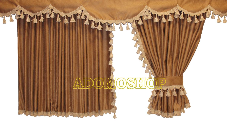 adomo lkw shop lkw gardinen f r man tgx xxl tga xxl braun beige unterst braun lkw zubeh r. Black Bedroom Furniture Sets. Home Design Ideas